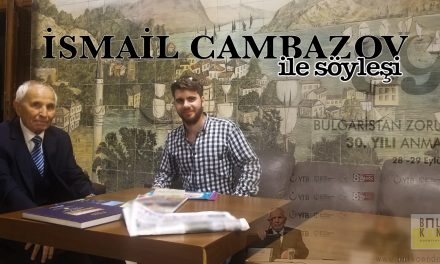 İsmail Cambazov ile Söyleşi